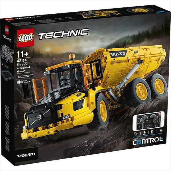 lego technic  knickgelenkter volvodumper 6x6 42114
