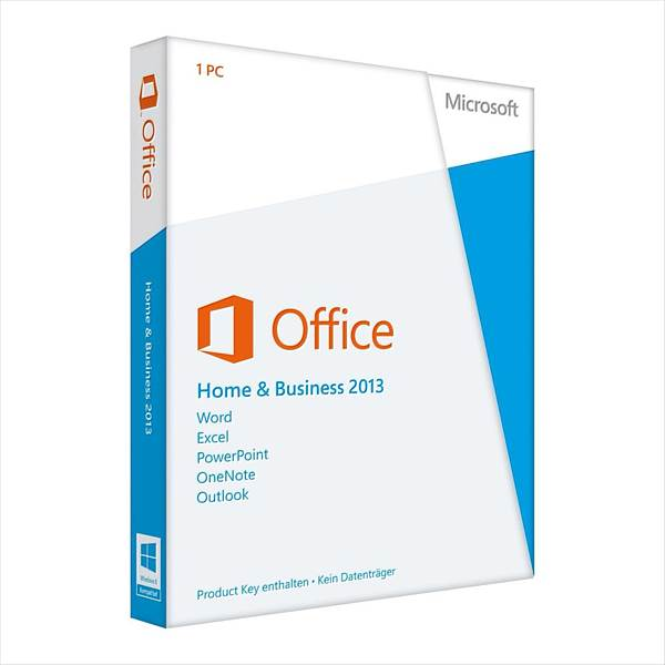 Microsoft Office 2013 Home and Business, 32/64 Bit, PKC, Win, German (T5D-01628)